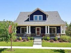 dark blue house white trim - Google Search