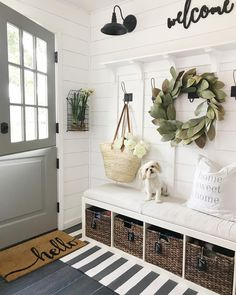 Crushing on mudroom right now! That Dutch door is dreamy! Farmhouse Decor, Decor, Farmhouse Wall Decor, Sweet Home, Furniture, Interior, Farmhouse Entryway, Entryway Decor, Home Decor