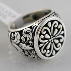 Special Design 925 Sterling SILVER Turkish Handmade Ottoman Men Statement Ring #Handmade #Statement