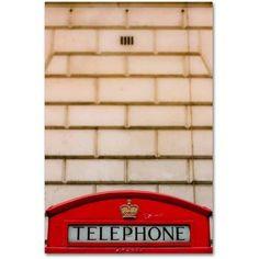 Trademark Fine Art 'Telephone Booth' Canvas Art by Ariane Moshayedi, Size: 12 x 19, Multicolor