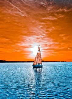 Sailboat sunset | re-pinned by http://www.wfpcc.com
