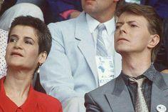 Coco Schwab and David Bowie 80s.
