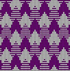 tessellating three tone pattern (odd knit)