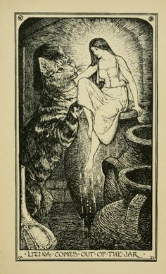The Colony of Cats - The Crimson Fairy Book by Andrew Lang, 1903