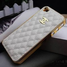 Chanel iphone case. Reminder to self: add to top of Christmas wish list.