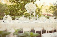 Décoration de mariage thème vintage blanc chic