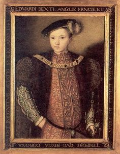 Edward VI, only surviving legitimate son of Henry VIII. This was the long sought after son that Henry VIII changed the course of history for. Edward's mother was Henry's third wife, Jane Seymour. She died two weeks after Edward's birth. Edward became king at the age of nine, and died at the age of sixteen.