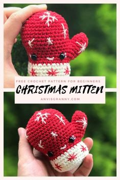 Learn how to diy the cutest Christmas decorations with my quick, simple and no sew free crochet pattern for Christmas mitten ornaments. My free holiday crochet pattern with easy free video tutorial will guide you step by step to crochet the kawaii mini mitten ornament. You can use it to decorate your house, keychain, bag charm or give it to your family and friends as the special Christmas gifts #amigurumi #christmasdecor #christmasgifts @christmastree #crochetornaments #freecrochetpattern Holiday Crochet Patterns, Crochet Amigurumi Free Patterns, Crochet Patterns For Beginners, Free Crochet, Crochet Ideas, Crochet Projects, Cute Christmas Decorations, Crochet Christmas Ornaments, Christmas Gifts