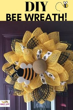 Get ready to BEEEE AMAZED! Easy DIY summer decor never had it so good until Unique in the Creek came along! Toss out those flimsy, frustrating wire wreaths and grab your very own Unique in the Creek w Burlap Flower Wreaths, Deco Mesh Wreaths, Ribbon Wreaths, Floral Wreaths, Mesh Ribbon, Wreath Crafts, Diy Wreath, Tulle Wreath, Wreath Ideas