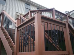 deck designs | Deck Design: Step-It-Up with Deck Railing and Stairs | St. Louis Decks ...