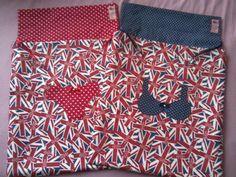 Saquinhos de Lingerie feita pela Aninha Artesanatos e Afins com a coleção 029 - Londres da Tecidos Fabricart