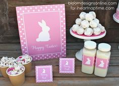 Pretty Easter Party Printables! Darling prints to add a pop of color to your Easter parties!