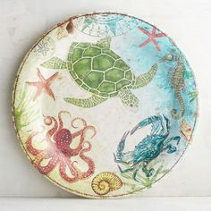 Shop for dinnerware, dinner sets and other place settings at Pier Put the finishing touch on your dining room with our dishes, bowls, dinner plates and more. Outdoor Dinnerware, Melamine Dinnerware, Dinnerware Sets, Coastal Style, Coastal Decor, Coastal Living, Fish Plate, China Painting, Pottery Bowls