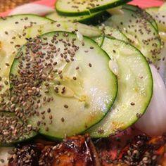 Cucumber Chia Seed Salad
