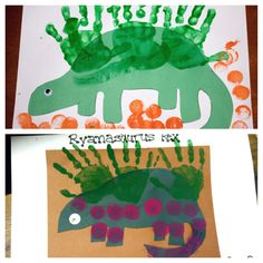 Stegosaurus for preschoolers ...dinosaur week...we added Dinosaur Names...this one is. 'Ryanosaurus Rex'