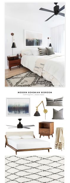 A modern bohemian bedroom by Amber Interiors recreated for $1811. by @audreycdyer