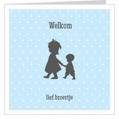 #geboortekaartje vierkant dubbel jongentje hand in hand met grote #zus. #geboortekaartjes #broertje #zusje #newborn