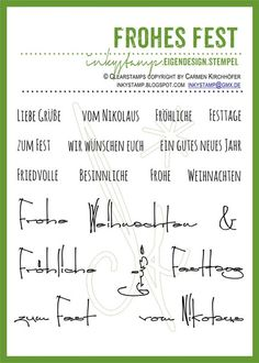 Beautiful Frohes Fest Stempel Set