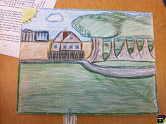 Students draw the setting of a book based SOLELY on the text evidence.