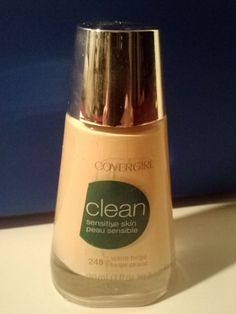 CoverGirl Make up Foundation Clean Sensitive Skin Color 245 Warm Beige #CoverGirl
