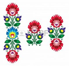 Illustration about Repetitive colorful background - polish folk art pattern. Illustration of cute, folk, garden - 31258852 Hungarian Embroidery, Folk Embroidery, Learn Embroidery, Floral Embroidery, Embroidery Patterns, Machine Embroidery, Embroidery Tattoo, Mexican Embroidery, Sewing Patterns