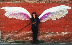 Location of LA street art that turns any passerby into an angel--or an albatross.