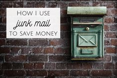 Could your junk mail save you money? Frugal Family, Frugal Living Tips, Frugal Tips, Money Tips, Money Saving Tips, Save My Money, Junk Mail, Recycling Bins, Saving Ideas