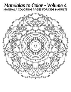 Awesome Coloring Pages For Adults FREE Mandalas To Color