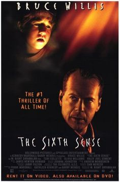 """""""The Sixth Sense"""" movie poster - if you never saw this one, don't have anyone spoil it for you! a must see"""