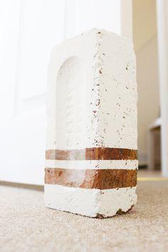 Upcycled brick door stop - Beak Up Crafts