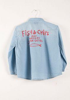 Shirt in denim Fish