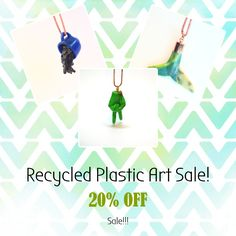 OFF Sale. Get In quick! Plastic Design, Plastic Art, Plastic Jewellery, Off Sale, Art For Sale, Recycling, Create, Plastic, Upcycle
