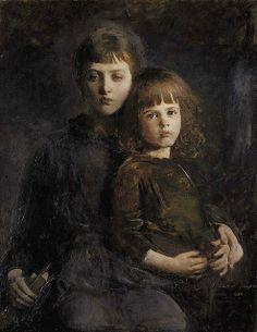 Abbott Handerson Thayer (American artist, 18-49-1921) Mary and Gerald Thayer, 1889