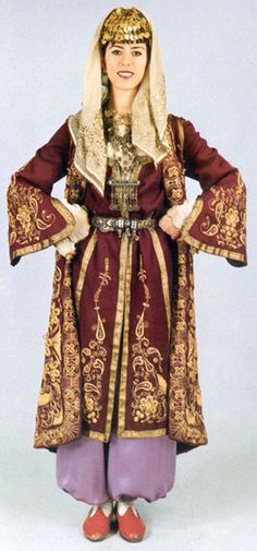Traditional Turkish costume from region of Ankara