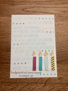 Stempelset Perfekter Geburtstag und DSP von Stampin' UP! - Picture Perfect Birthday card using supplies from Stampin' Up!