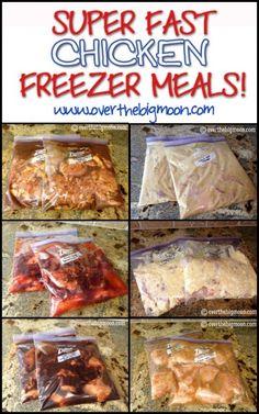 Super Fast Chicken Freezer Meals