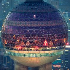 Shanghai City / the revolving restaurant at the Oriental Pearl TV Tower by Blackstation Asia Travel Share and enjoy! Futuristic Architecture, Amazing Architecture, Gothic Architecture, China Architecture, Shanghai City, Beijing, Pearl Tv, Places Around The World, Around The Worlds