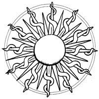 Sunburst Mandala Coloring Page