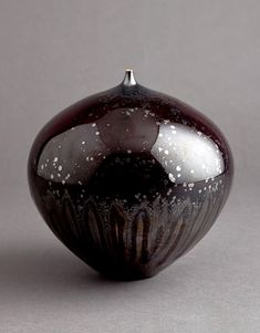 Porcelain Vase, reddish  iron crystalline glaze