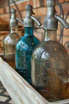vintage French seltzer bottles
