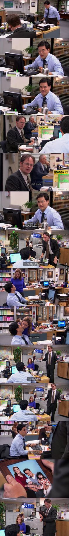 I loved this. The Office. Imagine the planning that would have to go into something like this...
