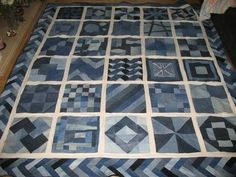 A lot of different ideas for using jeans for quilts, etc.  Page is in Russian.