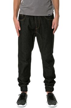 Square Zero Denim Commuter Jotter Pants with Waist Draw String by Square Zero