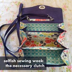 selfish sewing week: the necessary clutch    imagine gnats