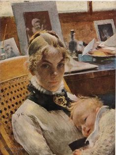 Swedish painter Karl Larsson. I love his tender paintings of women and children
