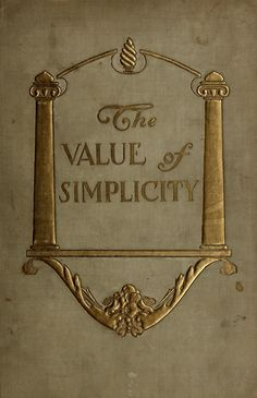The value of simplicity ~ 1905