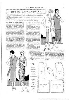 1920s Vintage Dress Pattern, Sports Dress Pattern