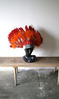 Indianer Stirnband mit Federn // indians feather crown via DaWanda.com