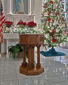 The baptismal font at St. Joseph Church in Missouri.