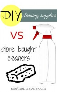 Ever wondered the difference in DIY vs store bought cleaners?  Here's a great post laying it all out.
